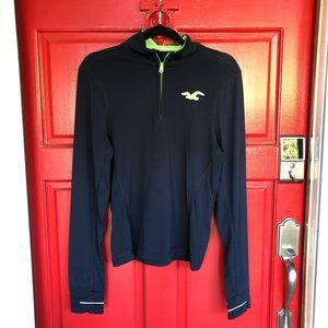 Hollister Blue Navy & Green Athletic Casual Jacket